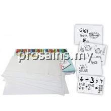 FC010 (Prosains) MULTI PURPOSE FLASH CARD 60PCS (PUTIH)