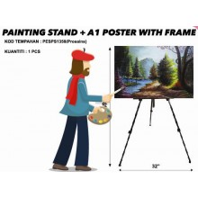 PESPS1358 (Prosains) - PAINTING STAND + A1 POSTER WITH FRAME