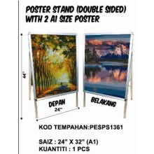 PESPS1361 (Prosains) - POSTER STAND (DOUBLE SIDED) WITH 2 A1 SIZE POSTER