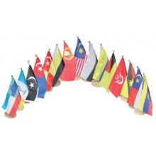 AP063 (Prosains) TABLE FLAG SINGLE 15 PCS (MALAYSIA NEGERI)