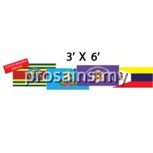 BENDERA SEKOLAH 3'x6'   (2PCS /SET) (Prosains)