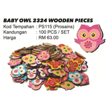 BABY OWL 2324 WOODEN PIECES