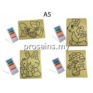 SAND ART MIX DESIGN SIZE A5 toys for girls boyts