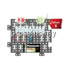 ELE011 (Prosains) PROJEK PENGERLIP ELEKTRONIK (4 LED) (40 PCS)