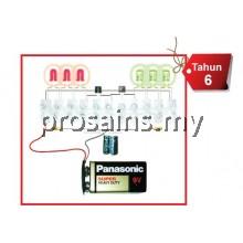 ELE050 (Prosains) PROJEK PENGERLIP ELEKTRONIK (6 LED) (40 PCS)