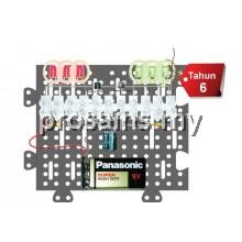ELE051 (Prosains) PROJEK PENGERLIP ELEKTRONIK (6 LED) (40 PCS)