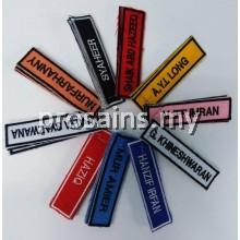 KAIN NAMETAG SULAM / NAME TAG MURID KAIN SULAM NAMETAG PELAJAR SEKOLAH 3PCS / STUDENT CLOTH EMBROIDERY NAME TAG TANDA NAMA