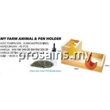 KHSK24 MY FARM ANIMAL & PEN HOLDER (40 PCS) (ProSains)