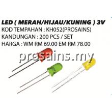 KH052 (Prosains) LED (MERAH / HIJAU / KUNING) (200 PCS)