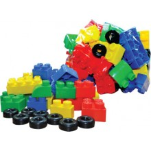BUILDING BLOCK WITH WHEELS (+/- 35 pcs)