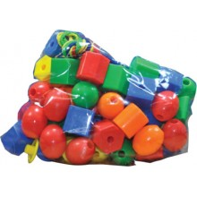 TYK040 (Prosains) - LACING SHAPES WITH BEADS (LARGE) (+/- 120 pcs)