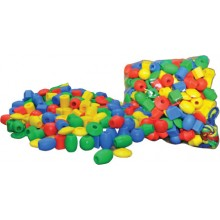 TY050 (Prosains) - LACING SHAPES WITH BEADS (SMALL) (+/- 115 pcs)