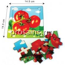 IQ020 (Prosains) - EDUCATIONAL WOODEN PUZZLE (FRUIT + VEGETABLES) (12 PCS / SET)