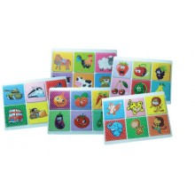 IQ029 (Prosains) WOODEN EDUCATIONAL PUZZLE CARTOON + FRUITS (10 PCS - 5 BENTUK x 2 PCS)