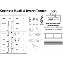 CP101 (Prosains) - COP NOTA MUZIK & ISYARAT TANGAN (34 PCS / SET)